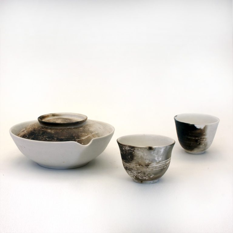 Translucent porcelain smoke fired with indigenous Fynbos
