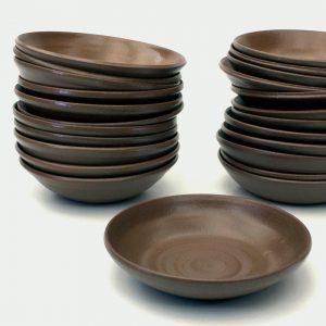 Plates by Cape Town potter.y teacher, Amelia Jacobs