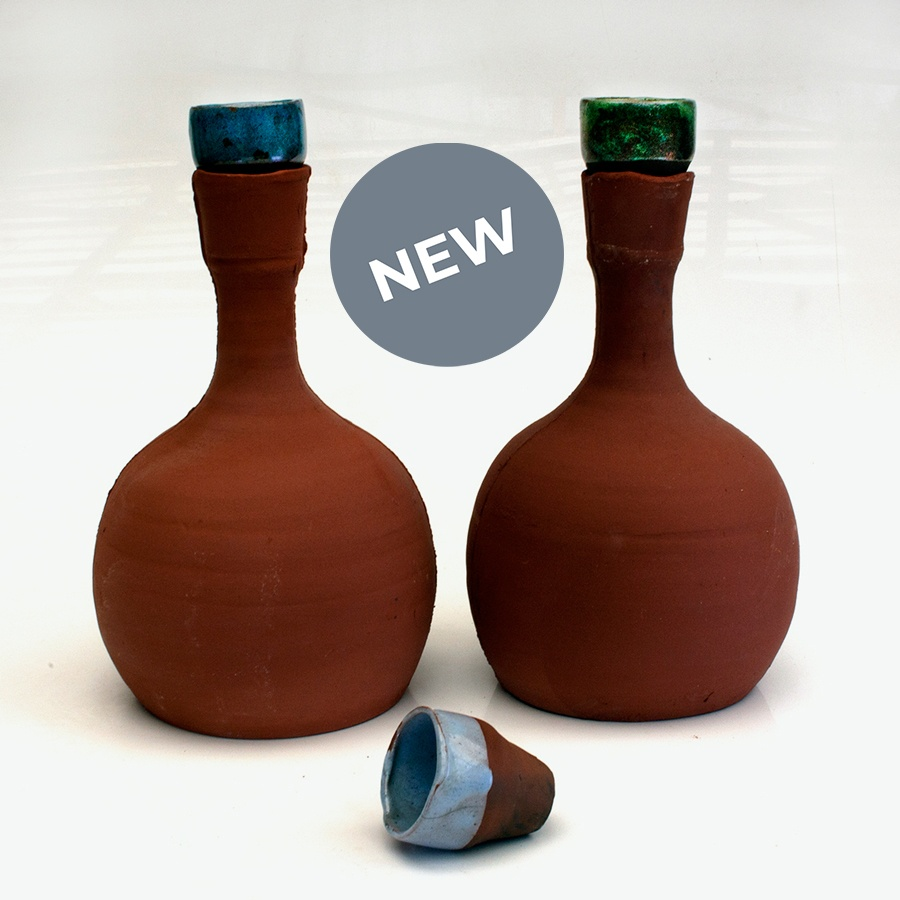 Olla terracotta large with stopper