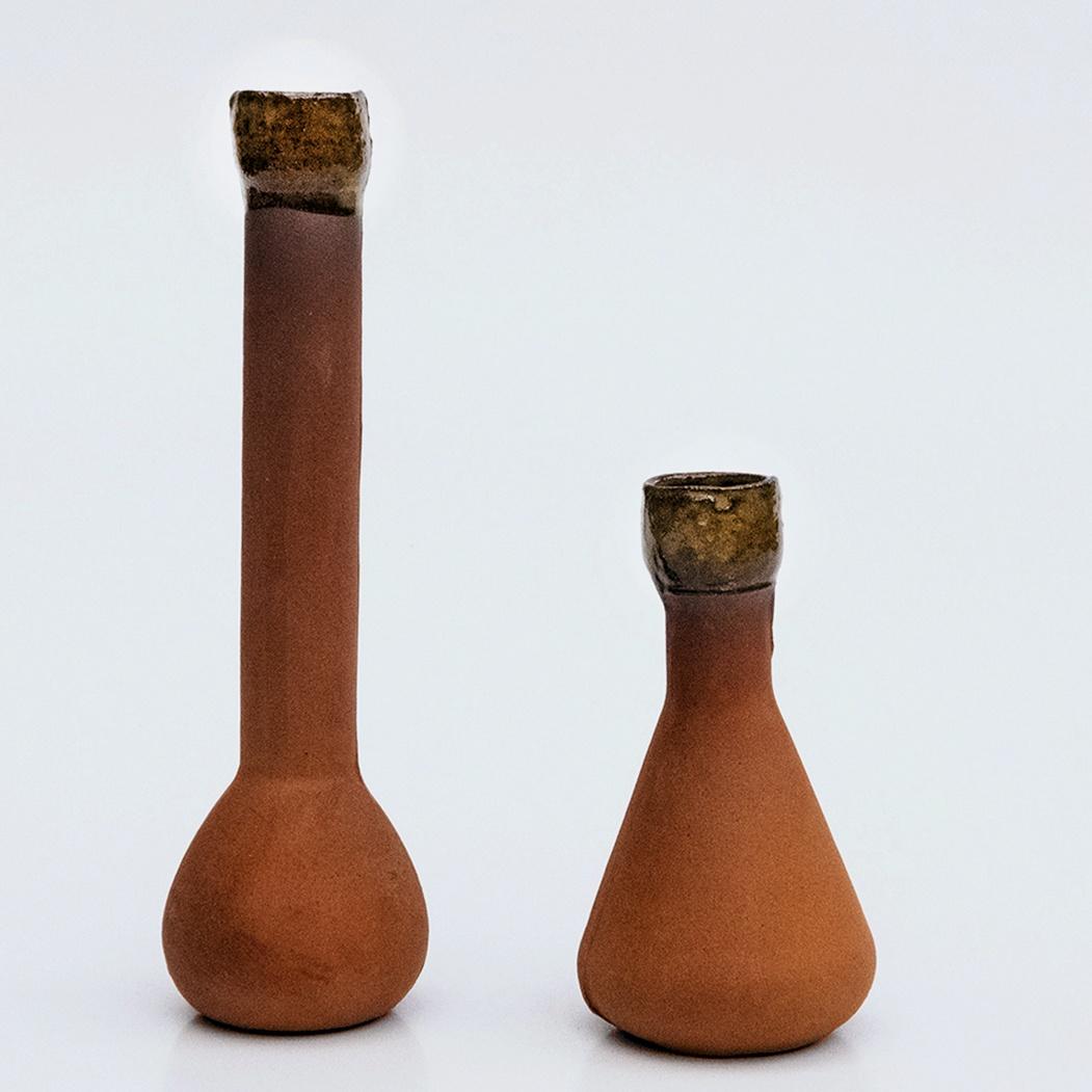two olla terracotta pots